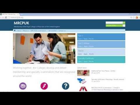 MRCP(UK) Part 1 online application
