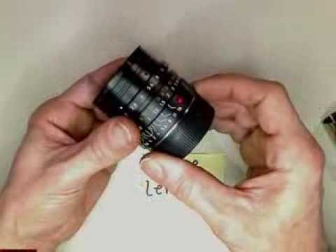 Loose lens group in Leica Summicron M 1:2 / 28 ASPH          motion lapse film