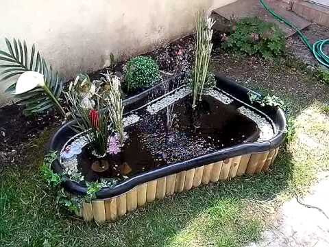Bassin semie enterr 150l youtube for Jardin plante