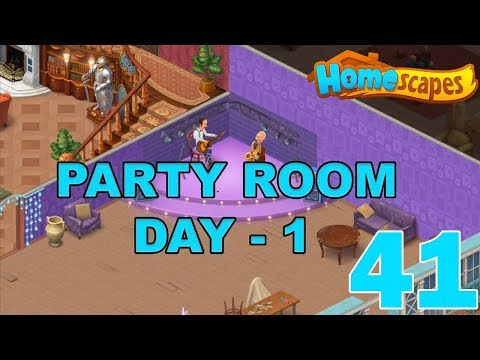 HOMESCAPES STORY WALKTHROUGH - ( PARTY ROOM - DAY 1 ) GAMEPLAY - ( iOS   Android ) #41