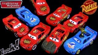 10 Lightning Mcqueen Cars 2 toys Diecast Muddy, Tar, Wet, Tongue, Bling, Cruisin Dinoco Disney toy
