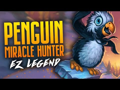 EZ Legend With Penguin Miracle Hunter | 74% Winrate | Rastakhan's Rumble | Hearthstone | Dekkster