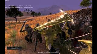 elf warriors + dwars vs uruk hai