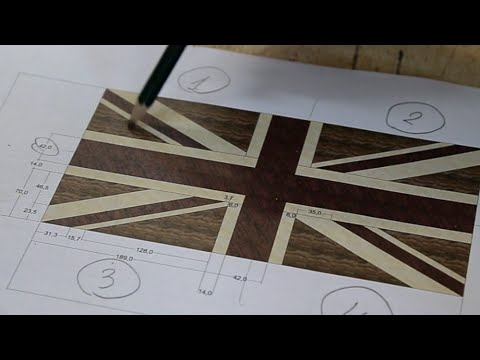 Union Jack end grain cutting board (version for woodworkers)