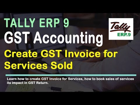 Create Sale of Service Invoice In Tally for GST Release 6   YouTube Create Sale of Service Invoice In Tally for GST Release 6