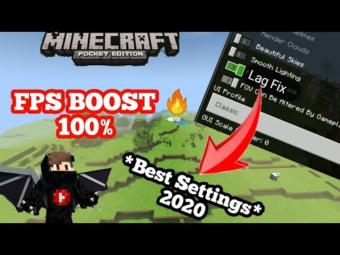 How To Fix Lag And Boost Fps In Minecraft PE *Best Settings* In HINDI 2020