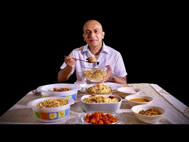 Popular Biryani Takeaway | MEGHANA FOODS | Vegetable, Aloo, Chicken, Mutton | Rerun Episode