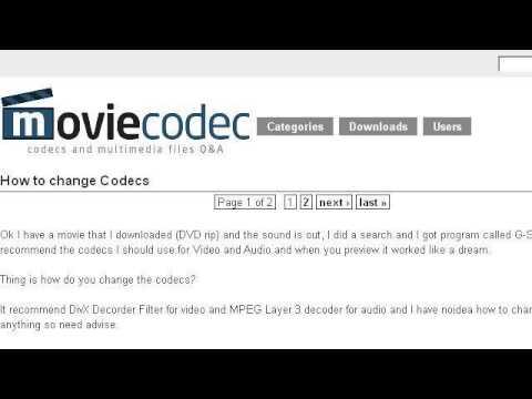 How-To Change Audio Codec
