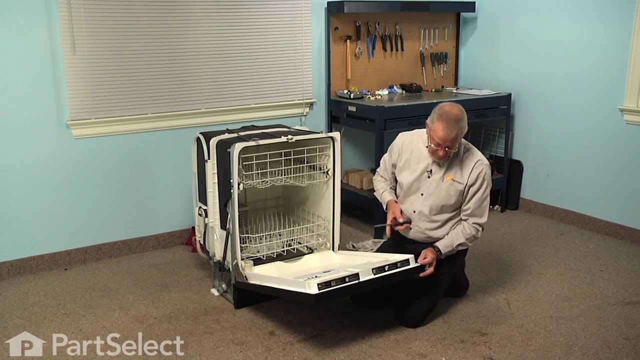 Dishwasher Not Working >> Dishwasher Repair - Replacing the Detergent Dispenser (GE Part # WD12X10237) - YouTube