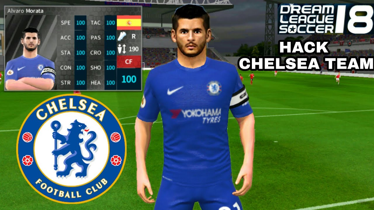 sale retailer aba35 b42ca How To Hack CHELSEA Team 2018 ● All Players 100 & Kits Logo ● Dream League  Soccer 2018