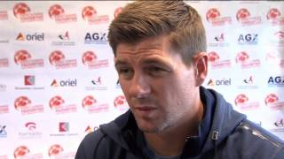Gerrard reacts to Champions League draw