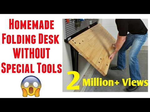 how-to-make-folding-table-at-home-|-building-a-wall-mounted-folding-desk-|-diy-table