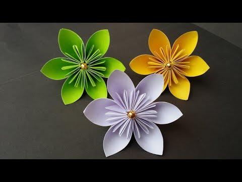 DIY: How to Make Kusudama Paper Flower!!! Easy Origami Kusudama Flower For Bigginers!!!