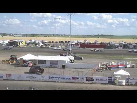 Red River Valley Speedway 07/17/2016 - IMCA Hobby Stocks   Heat 1