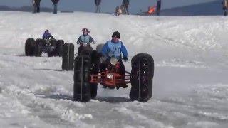 Соревнования на снегоходах  Оса 2016г.