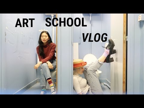 FRENCH ART SCHOOL VLOG #2 (French/English subs)