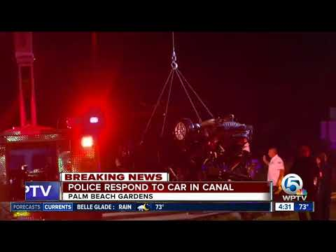 Car plunges into canal near PGA Boulevard and Florida's Turnpike