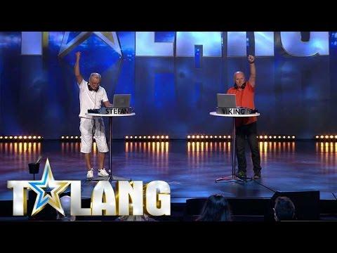 Viking och Stefan får hela studion i Talang 2017 på fötterna - Talang (TV4)