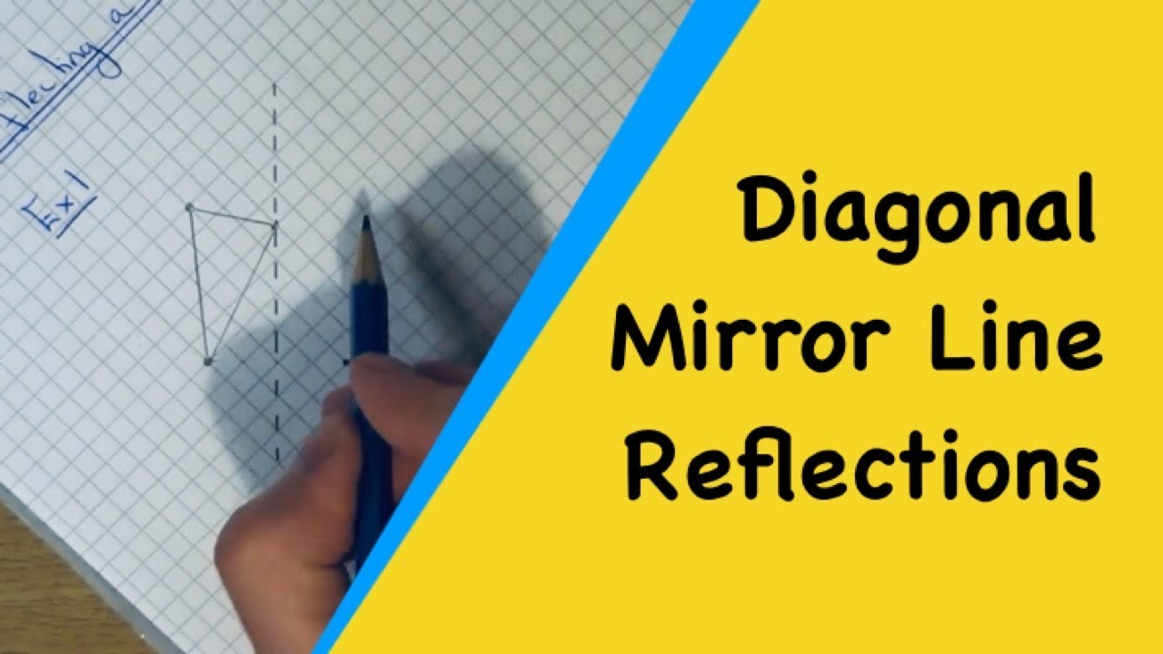 Drawing Lines Of Symmetry On Shapes Worksheet : Diagonal mirror line reflections how to reflect shapes in