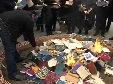 Azerbaijan burns books, Azerbaijanis vs Knowledge