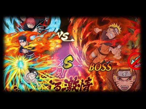 【Naruto Blazing JP】Four-Tails (S Rank) Raid - No Pearls!