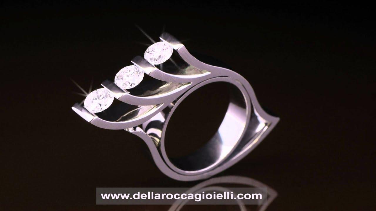 uk sporco stili di moda stile classico Anello Trilogy Damiani Anelli Trilogy Prezzi Anello Trilogy con ...
