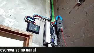 Energia solar funcionando ventilador, tv, receptor, lâmpadas🇧🇷