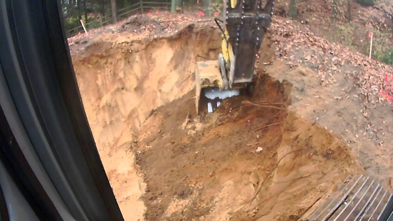 Kobelco Sr135 And Deere 544 Digging A Basement Youtube