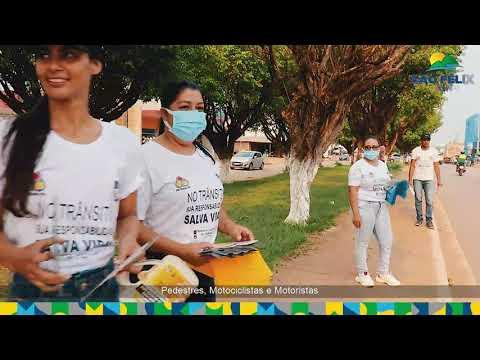 CONSCIENTIZAÇÃO: Semana Nacional de Trânsito termina com blitz educativa na Avenida Rio Xingu.