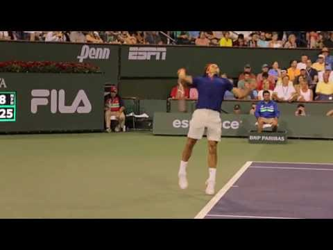 Roger vs Rafa 720p 60p HD One Camera Angle | Indian Wells 2013 (QF)