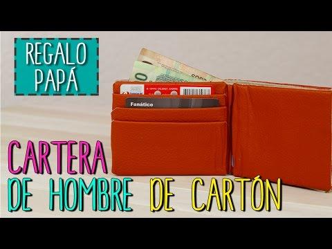 adc7a82b4 Cartera Para Hombre Reciclada | Cartera De Cartón | Regalos Día del Padre |  Catwalk Cartonaje - YouTube