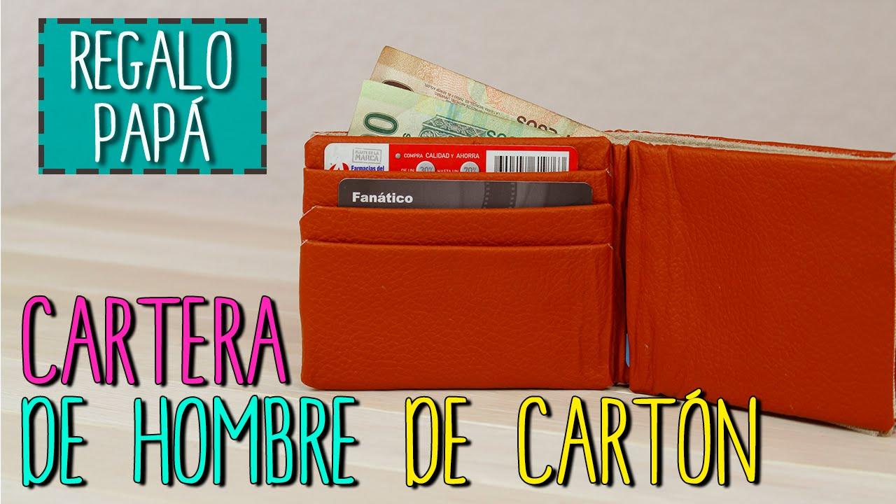 ebd655727 Cartera Para Hombre Reciclada | Cartera De Cartón | Regalos Día del Padre |  Catwalk Cartonaje - YouTube