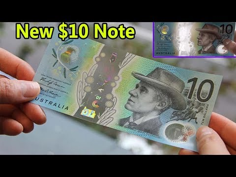 Introducing The New 10 Dollar Note | Australian Dollar | New Security Feature