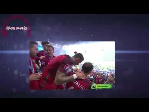 Ceremony Trophy Celebration Portugal Euro 2016 Final France Vs Portugal 0-1