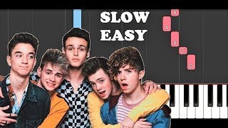 Why Don't We - Come To Brazil (SLOW EASY PIANO TUTORIAL)
