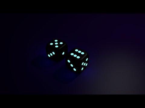 Make 3D glowing dice in urdu/hindi
