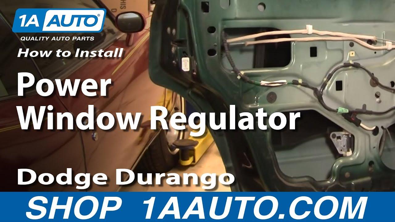 How To Install Replace Broken Power Window Regulator REAR