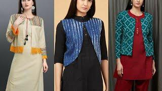 Jacket Style Salwar Suits || Salwar Kameez With Jacket || Jacket Suit Design 2020 || Jacket Kurti