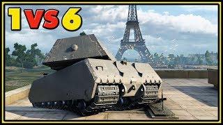 Maus - 10 Kills - 1 VS 6 - World of Tanks Gameplay