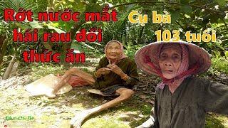 Rớt nước mắt trước cảnh cụ bà 103 tuổi hàng ngày phải hái rau đổi thức ăn Phần 1 I Phước Cần Thơ