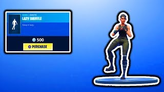 FORRNITE NEW LAZY SHUFFLE EMOTE! FORTNITE ITEM SHOP UPDATE! FREE SKINS VBUCKS GIVEAWAY