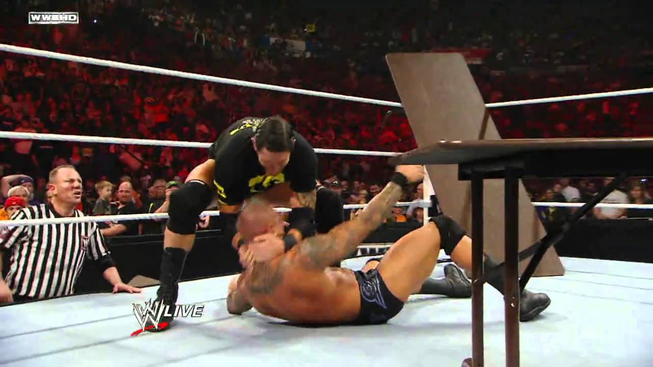 Raw: John Cena vs. Randy Orton - Tables Match - YouTube