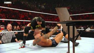 Raw: John Cena vs. Randy Orton - Tables Match