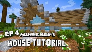 how to make a modern mountain house in minecraft scarland fishing cabin part 4