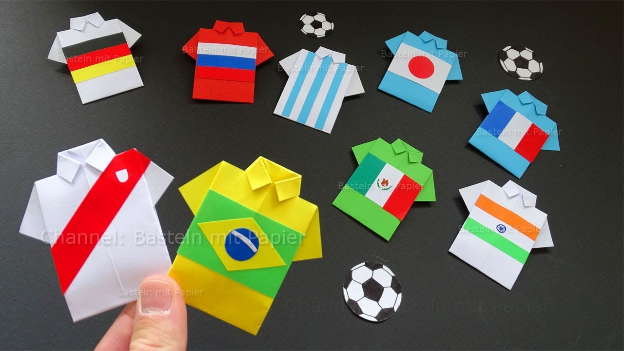 Origami Football Jersey Origami Shirt Brazil Argentina Mexico India
