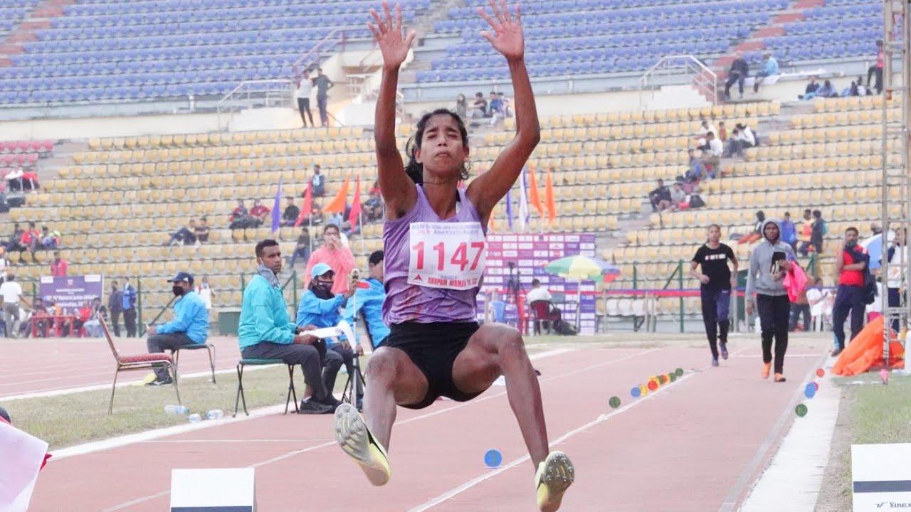 Long Jump Final U16 Girls 36th National Junior Athletics 2021