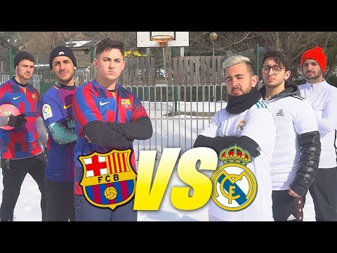PARTIDO MADRID vs BARCELONA ¡LA ÉLITE en LA NIEVE!