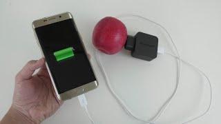 como cargar cualquier telefono con una fruta demostrado 100