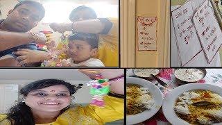 Hindi Vlog~Rakshabandhan VLOG in UK~Our Tradition For RakshaBandhan~Meethe Jave~ Rakhi Slogans