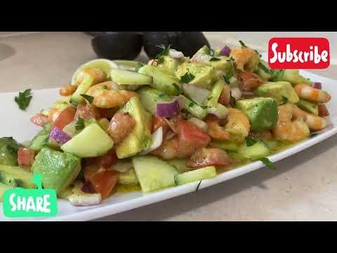 shrimp-avocado-salad-recipe!-salade-d'avocat-aux-crevettes!